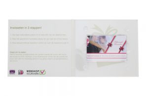 Kadobon online | foto's met witte achtergrond | Verschillende posities