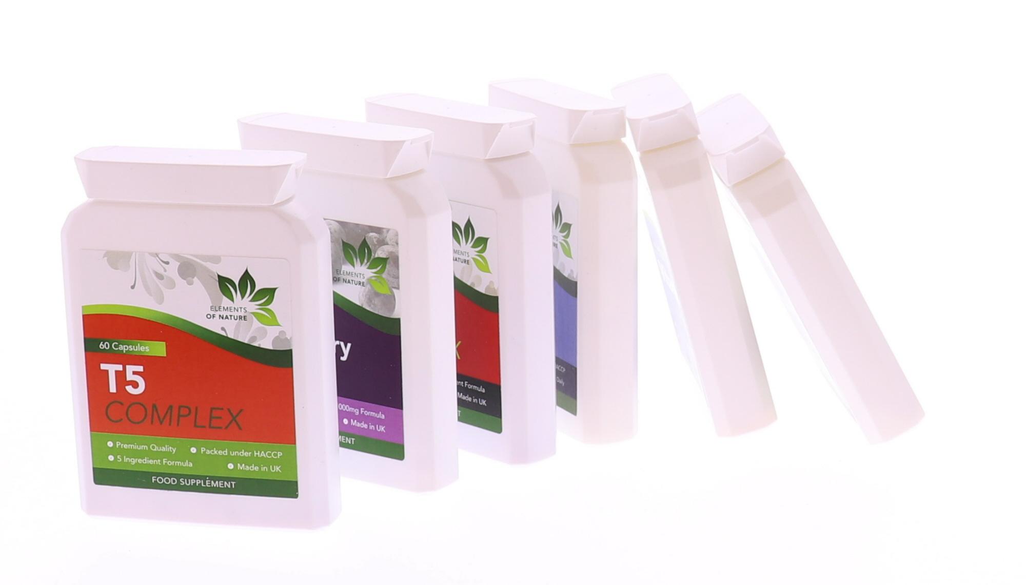 Vitamine potjes fotografie met witte achtergrond Productfotografie Breda